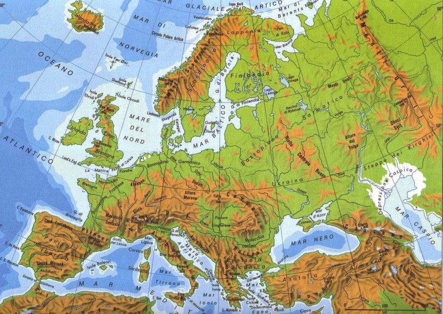 Cartina Muta Europa Con Fiumi E Monti Pieterduisenberg