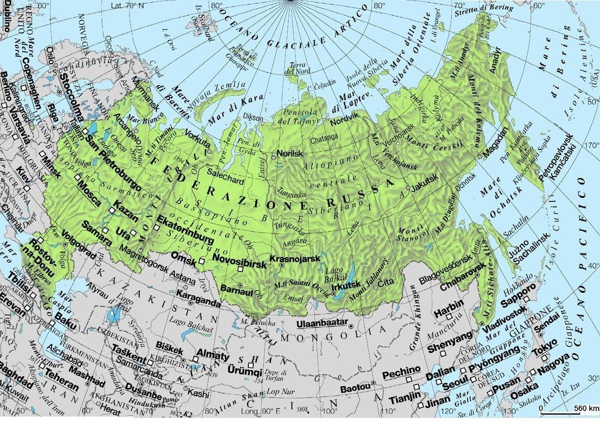 Cartina Politica Russia In Italiano.Russia A D School