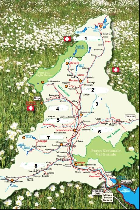 cartina muta Ossola